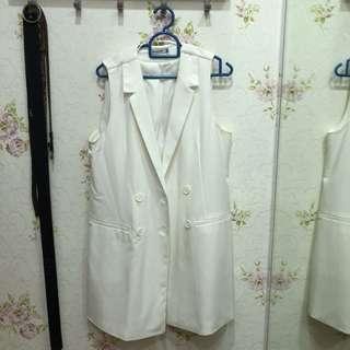 White Vest Coat SALE