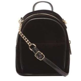 Dorothy Perkins Black Velvet Crossbody Bag
