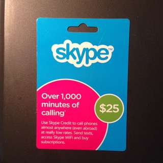 Skype US $ 25 credit