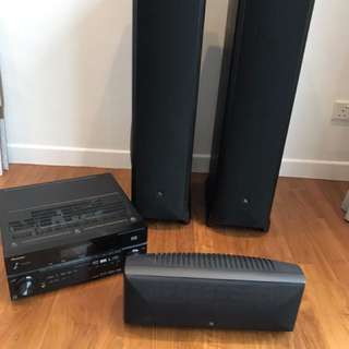 Acoustic Research Speakers and Pioneer AV Receiver