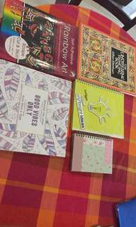 New / Unsed colouring / art/ notebooks bundle