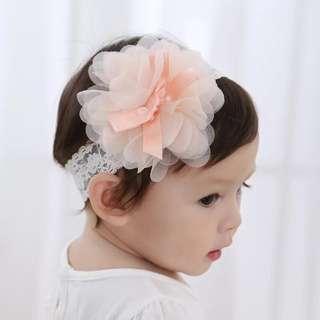 Baby Girl Lace Orange Headband Hairband
