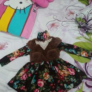 Mantel Bulu / Baju Hangat Anak Perempuan