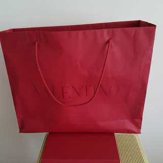 Valentino empty box n paper bag
