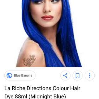 La riche directions hair dye midnight blue