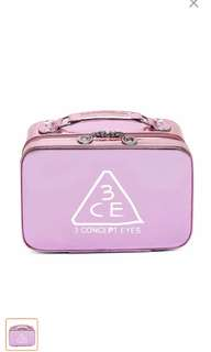 🌸 [SALE] 3ce cosmetic bag in chrome pink