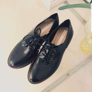 Bershka Leather Platform Shoes