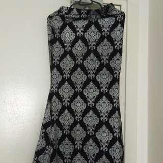 Preloved mermaid songket type long skirt