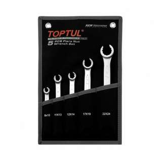 Toptul 5PCS Flare Nut Wrench Set