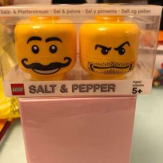 LEGO Mini Figure Salt Heads Salt & Pepper Set