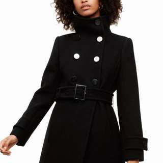 Aritzia size medium black peacoat with gold buttons