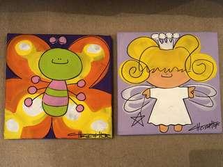 Pretty art for girls' room