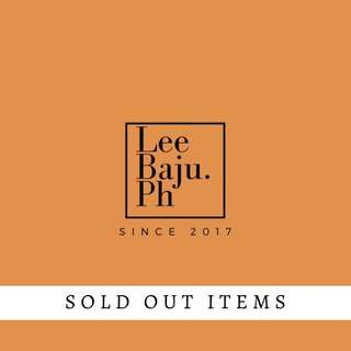 SOLD OUT ITEMS | batch 1