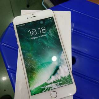 Iphone 6 Plus 128gb Gold mulus istimewa fullset ex internatinal ori