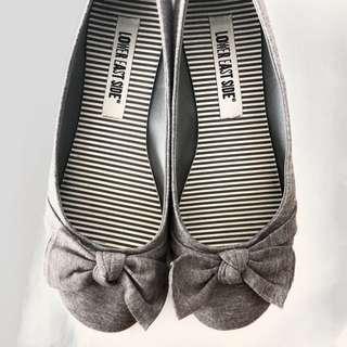 Grey Cotton Flats
