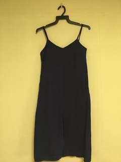 Cami front slit dress