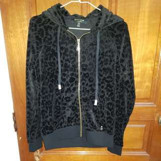 Juicy Couture leopard prints hooded jacket