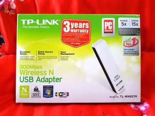 Tp-Link 300Mbps Wireless N USB Adapter ( TL-WN821N )