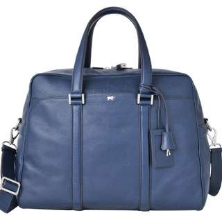 *Limited Edition Braun Buffel Blue Leather Bag*