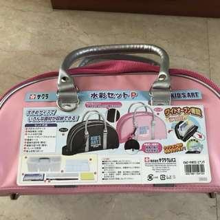 Special offer!  Japan-made!  Sakura Colour  Kids Art Set - complete paint set includes bag Made In Japan