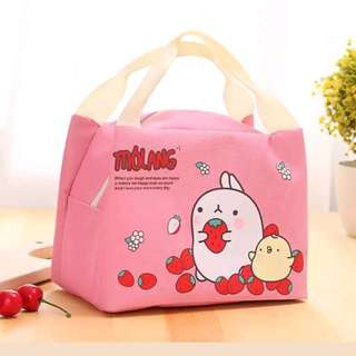Thermal Picnic Lunch Bag Insulated Cooler Handbag Cute Food Storage Pouch