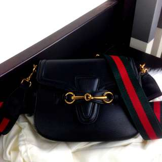 GUCCI Lady Web Leather Shoulder Bag SS18