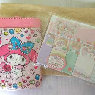 My Melody Card Holder + Sticky Notes