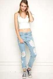 Brandy Melville destroyed mom jeans