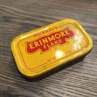 Murray's Erinmore Flake Pipe Tobaccoo Tin Vintage 50g Made in Ireland
