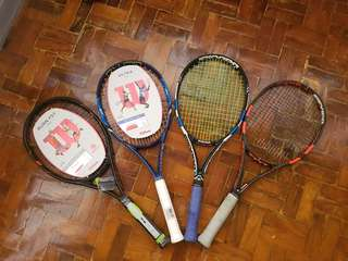 Brand New and 2nd Hand Tennis Rackets