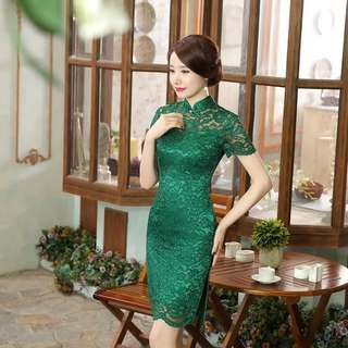 Lace Cheongsam qipao cheong sum dress