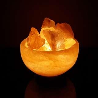"""5kgs Himalayan """"Fire Bowl"""" Salt Lamp"""