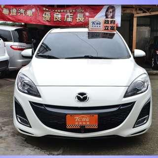 2010年底11月出廠 Mazda3白色5門 頂級天窗/換檔撥片/只跑5萬公里