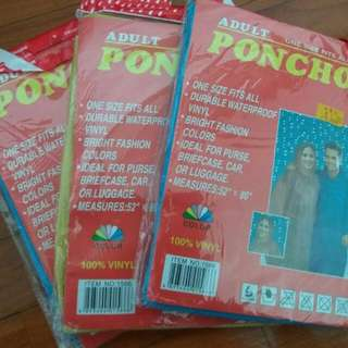 Poncho 3 Pieces Ideal For Travel / Gardening Use
