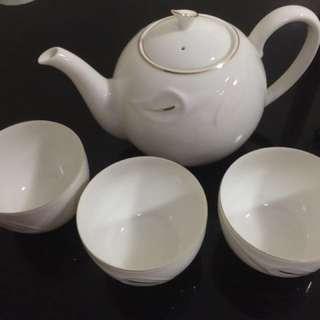 Adam and Eve Teapot Set