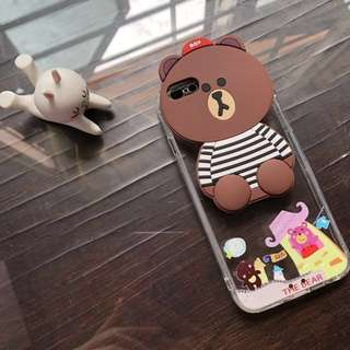 (NEW) Brown the Bear Soft Case Iphone 6/6s