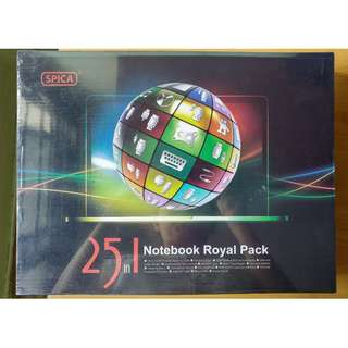 25 IN 1 SPICA NOTEBOOK ROYAL PACK (BRAND NEW)