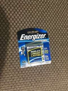 AA Energizer ultimate lithium battery