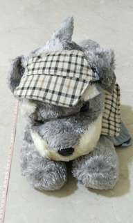 [BNWT] Dog soft toy carrying a backpack