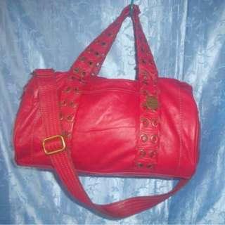 Missy's RABEANCO Red Leather Sling Handbag