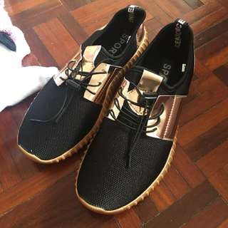 Black & Rosegold Casual Shoes