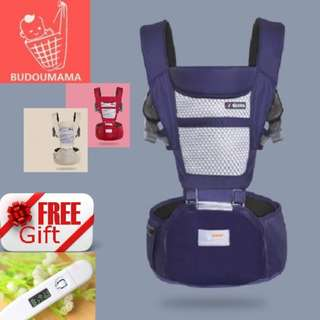 [Free Digital Thermometer] Budoumama Baby Carrier With Hipseat