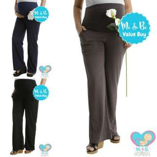 MIBI-WORKWEAR FULL PANEL MATERNITY 2.0 REGULAR STRAIGHT LEG PANT
