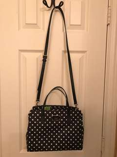 Kate Spade ♠️ polka dot nylon long strape bag