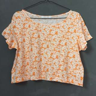 Crop Top Oranges Flower