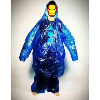 jas hujan plastik sekali pakai