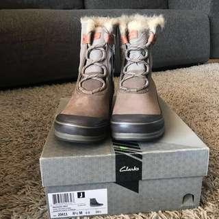 Clarks 全新 Brand New 雪鞋 雪靴 毛毛 Snow boot 防水 Waterproof