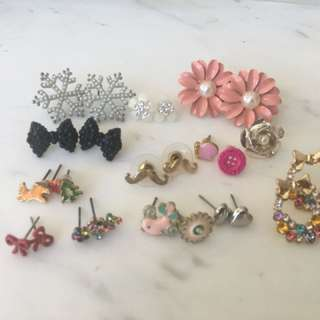 Earring collection (rrp $100+)