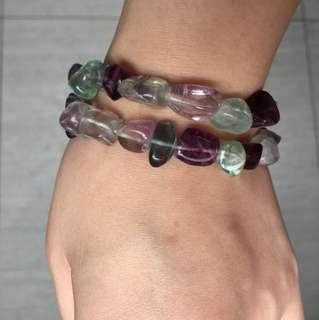 Genuine Fluoride Gemstones Bracelet