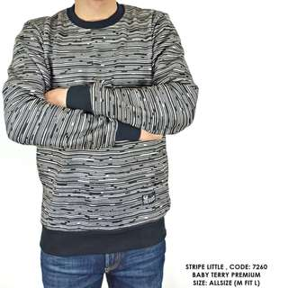 SWEATER SWITER SALUR GARIS COWOK PRIA FASHION